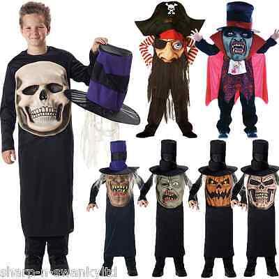 Jungen Schädel Pumpkin Piraten Vampir Verrückt Hut Halloween Kostüm Kleid (Vampir Piraten Kostüme)