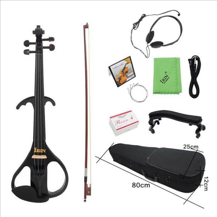 IRIN Black AU-02 Electroacoustic Violin Ebony Violin Violin Instrument .
