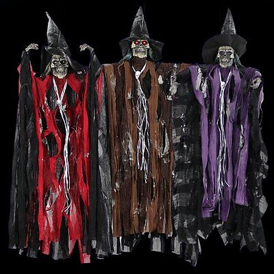 Halloween Props Big Skeleton Emitting Voice Control Scream Hanging Ghost Witches - Big Halloween Props