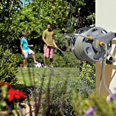 Outdoor 50M Hose Pipe Reel Wall Mounted Storage Car Garden Watering Winder Set