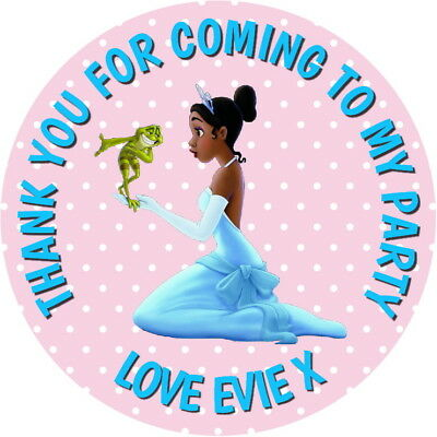 PERSONALISED PRINCESS & THE FROG QUALITY GLOSS PARTY BAG, SWEET CONE STICKERS - Sweet Frog Birthday Party