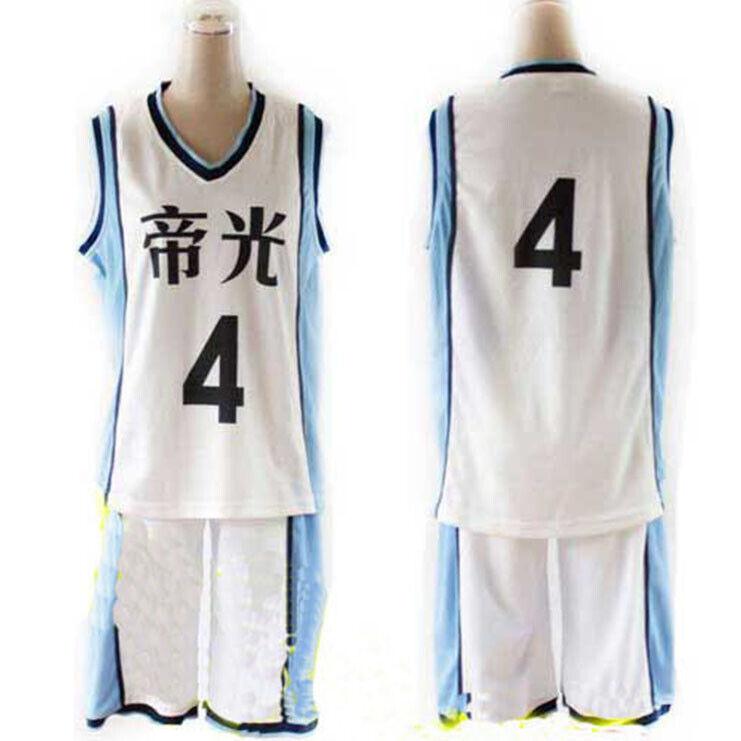 Kuroko No Basuke RAKUZAN Akashi Seijuro Jersey Sports Basketball Cosplay Costume
