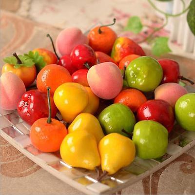DI US 10PCS Artificial Decorative Plastic Fruit Home Decor Garden House Kitchen