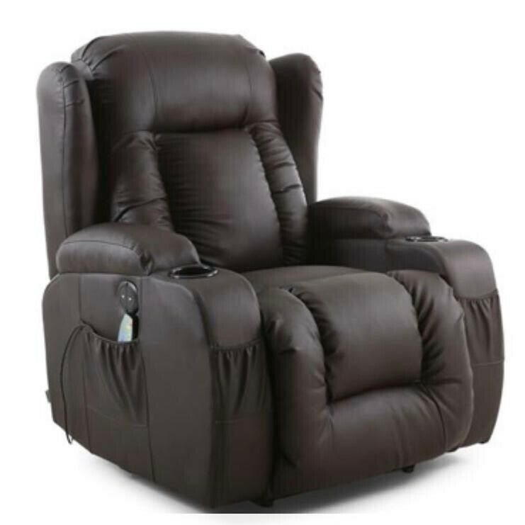 Super Rockingham Electric Recliner Chair With Massage And Heat In Brown In Eastbourne East Sussex Gumtree Pabps2019 Chair Design Images Pabps2019Com
