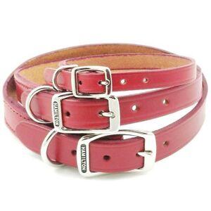 Hamilton Creased Leather Dog Collar   X