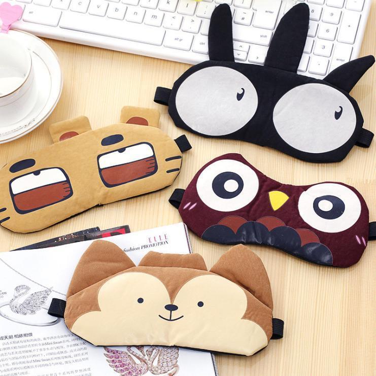 Cute Eye Mask Soft Padded Sleep Travel Shade Cover Rest Relax Sleeping Blindfold