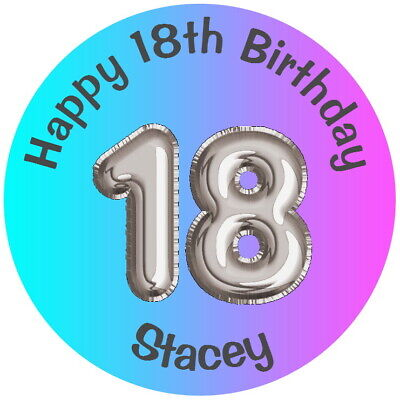 PERSONALISED18TH BIRTHDAY PARTY FAVOUR LABELS,THANK YOU GLOSS STICKERS ANY AGE  - 18th Birthday Favors