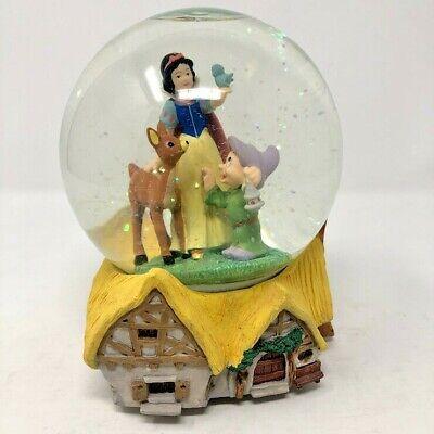 Disney Snow White Dopey Bambi Snow Globe Someday My Prince Will Come VIDEO