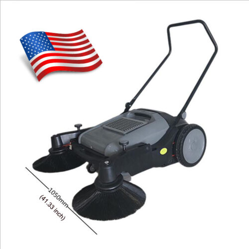 41 Inch Sweeper Triple Brush Pavement Portable Sweeper