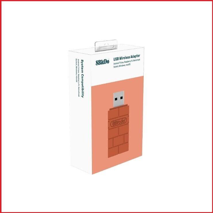 8Bitdo USB Wireless Bluetooth Adapter – Windows, Mac, Rasp Pi & Nintendo Switch Controllers & Attachments