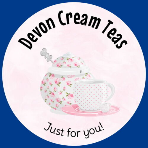 AFTERNOON CREAM TEA  BIRTHDAY BRIDAL SHOWER STICKERS PERSONALISED GLOSS  LABELS