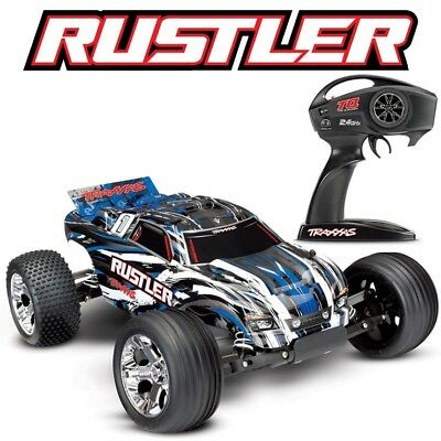 NEW Traxxas 37054-4 Rustler XL-5 1/10 2WD RC Stadium Truck BLUE Edition FREE SH