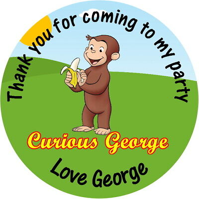 Curious George Party Bags (PERSONALISED CURIOUS GEORGE GLOSS PARTY BAG, SWEET CONE)