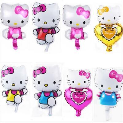 6PC Cute Hello Kitty Aluminum Balloon KidsBirthday Party Supplies Decoration 16