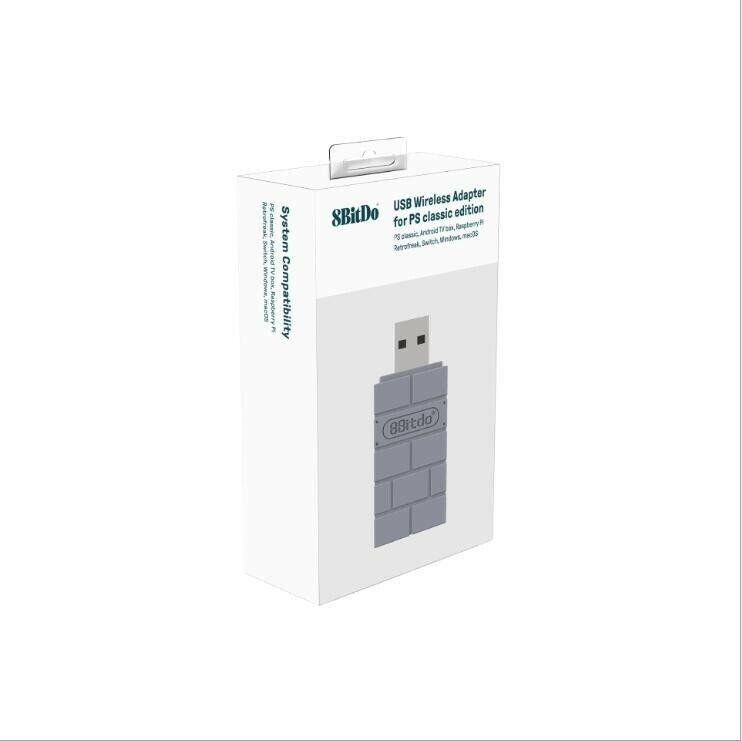 8Bitdo USB Wireless Bluetooth Adapter-Nintendo Switch & Ps1,Windows,Mac,Raspi Pi