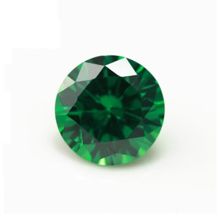 Natural Mined Colombia Green Emerald 10mm Round Cut VVS AAA Loose Gemstone