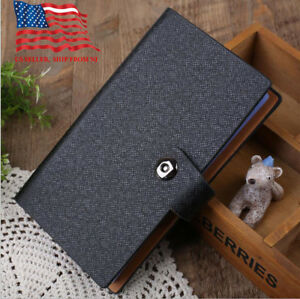 Business card organizer ebay black business card holder book pu leather 240 name cards organizer with buckle colourmoves