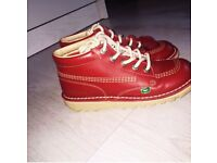 Red kickers size 3