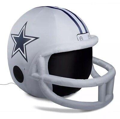 Dallas Cowboys 4 ft Inflatable Lawn Helmet NFL Football Licensed Yard Decoration