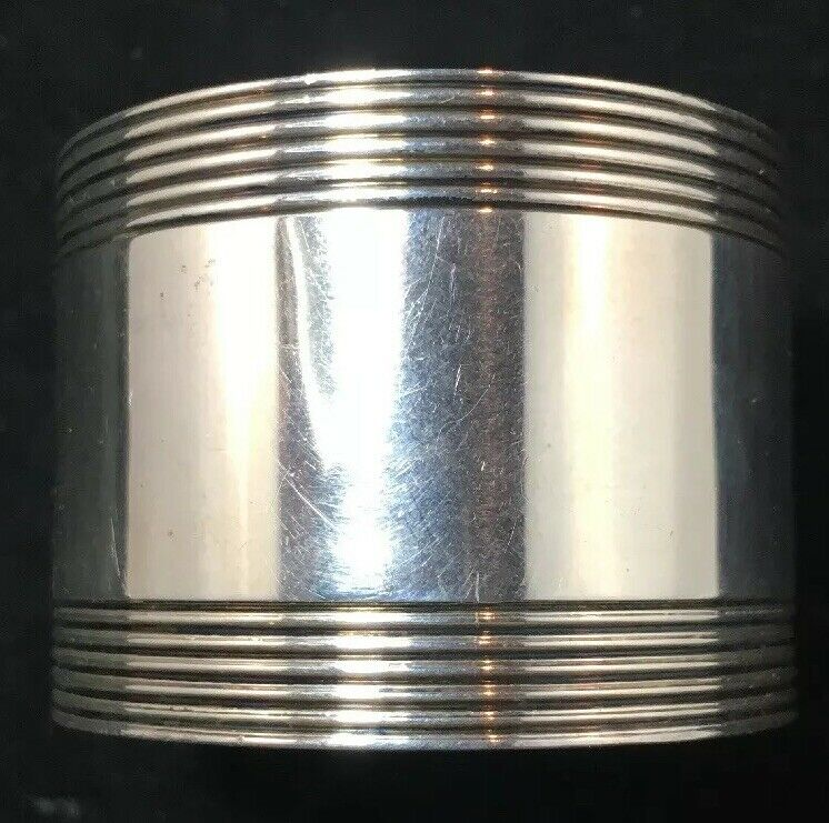 Tiffany Deco Sterling Silver Napkin Ring