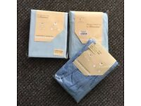 3 x baby cot bed fitted sheets 100% cotton
