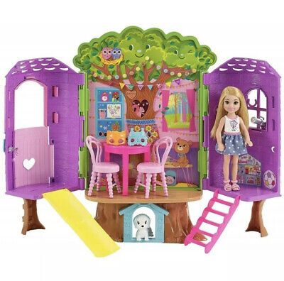 Barbie Club Chelsea Doll, Dog and Treehouse Playset, Play Set Brand New in Box