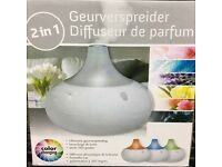 Colour changing fragrance diffuser+humidifier