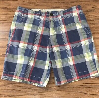 Abercrombie & Fitch Men's Heavy Plaid Casual Shorts Size 33 #50441