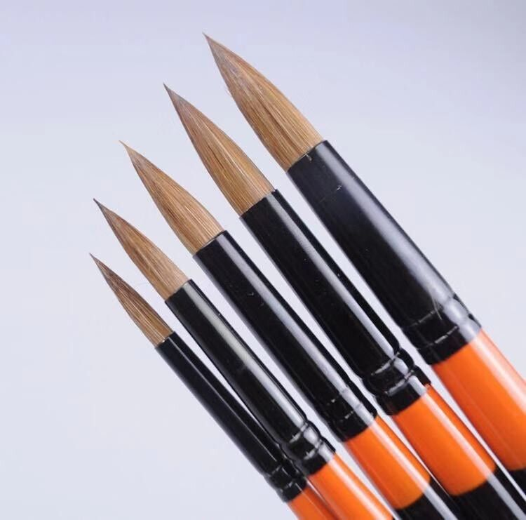 XDT#950 Mop Round Tip Artist Paint Art Brush 5pc Natural Hair Acrylic Watercolor