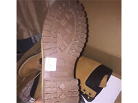 Size 6 light brown timberlands . Brand new . Never worn still in box