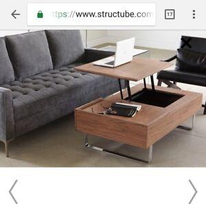 Structube EVO coffee table (new, walnut)
