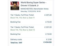 Groves vrs Eubank Tickets For Sale