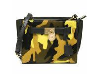 Michael Kors Hamilton Acid Lemon Camo Calfhair Mini Bag