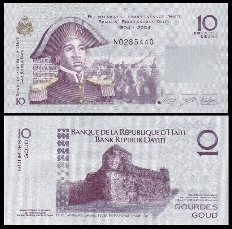 HAITI 10 Gourdes, 2014, P-272, Independence, UNC World Currency