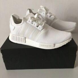 "Adidas Nmd ""Triple White"" size 10.5"