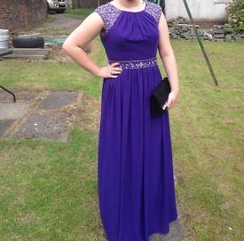 PROM 2017 • Long, chiffon, purple prom dress