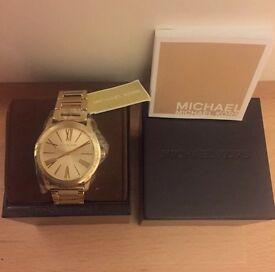 Brand New Genuine Michael Kors Ladies Watch MK3490 Hartman Gold Tone