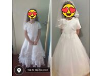 Two beautiful communion dresses age 8-9