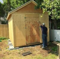 Need a shed or deck built ?