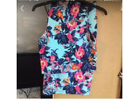 Summer floral two piece crop top and pencil skirt