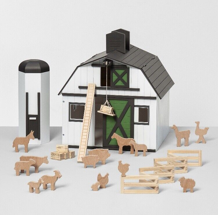 HEARTH & HAND Magnolia Toy Wood Farm Set Barn SOLD OUT 24-Piece JOANNA GAINES