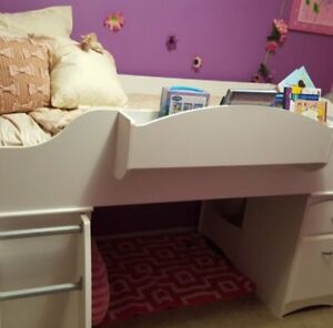 Loft bed with matching tv stand/extra dresser