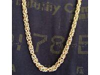 Heavy 142 g 9ct gold Byzantine chain