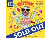 2 x Elrow tobacco dock london tickets for Saturday 11th of march