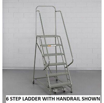 - NEW! EGA Steel Industrial Rolling Ladder 2-Step-16