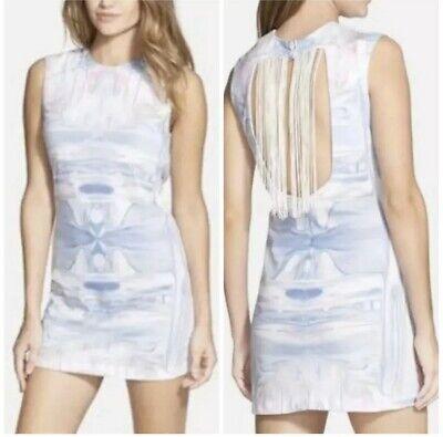 Isabella Rose Taylor Marbled Fringe Back Shift Dress Size M