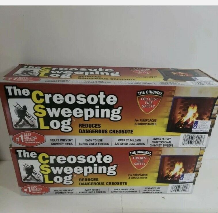 Creosote Sweeping Log Fireplace/ Woodstove/ Chimney Cleaner  PACK OF 2