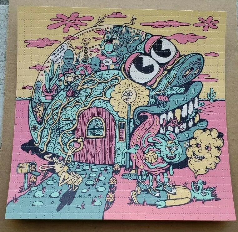 """Killer Acid """"Way out West """" Blotter Art signed and numbered perforated art"""