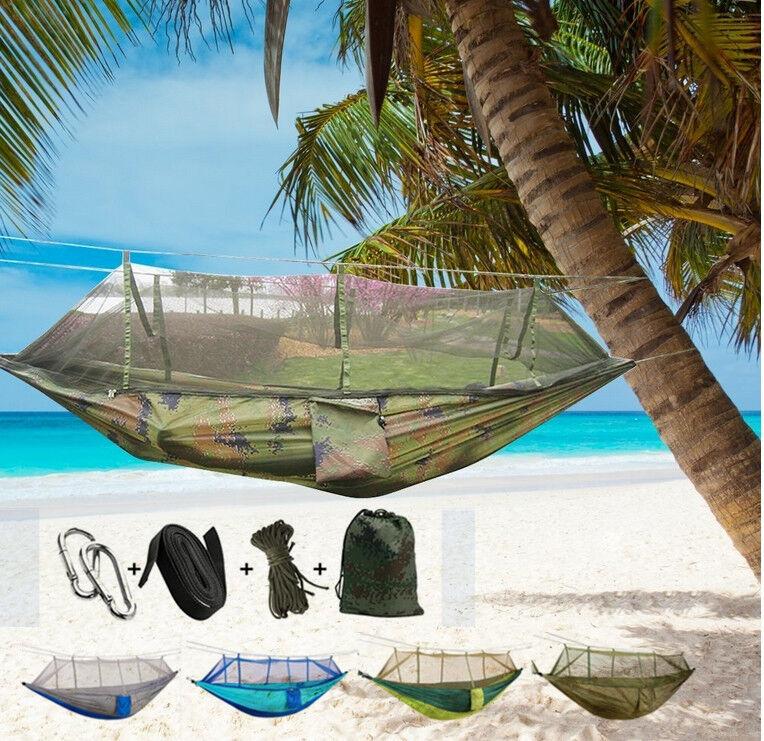 Outdoor Camping Mosquito Net Hammock Tent Nylon Double Hangi