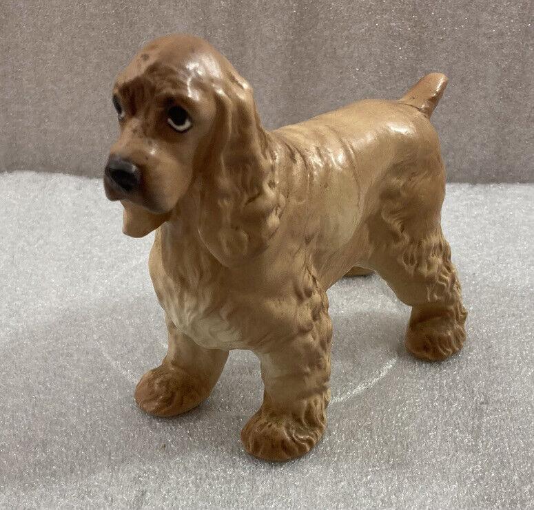"Cocker Spaniel ceramic dog figurine 7.5""L x 5.5""H ...tan"
